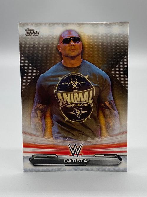 WWE Topps 2019 Raw Batista #6 NM Wrestling Trading Card