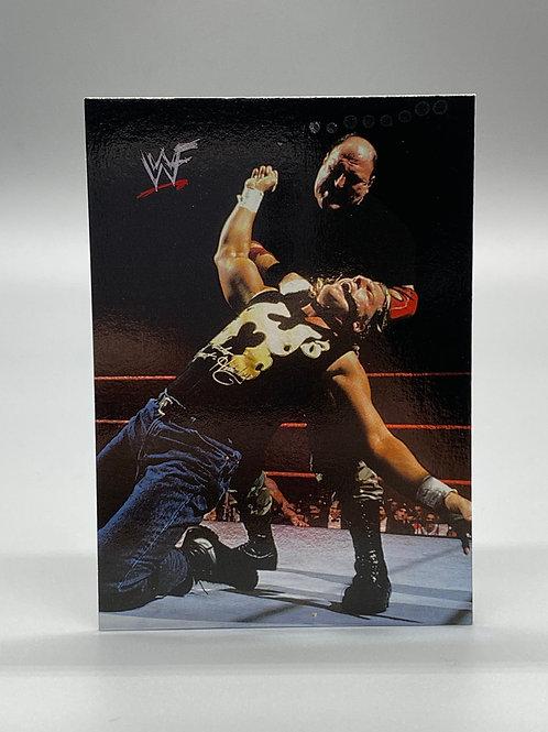 WWF Comic Images 2000 Sgt. Slaughter vs Triple H #76 NM Wrestling Trading Card
