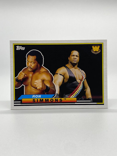 WWE Topps 2018 Heritage Big Legends Ron Simmons #BL-42 NM