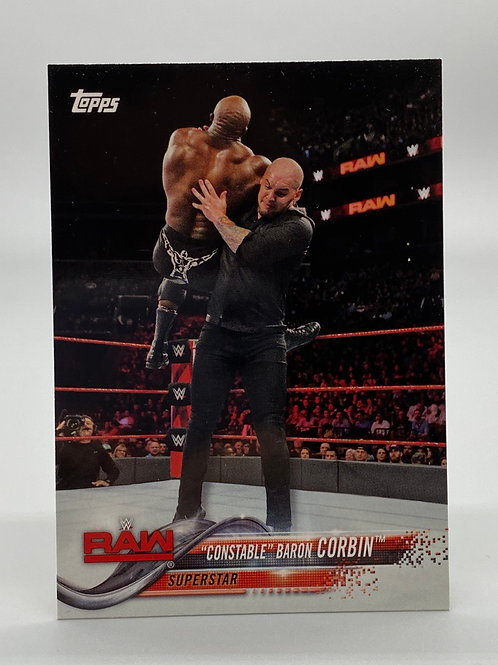 "WWE Topps 2018 Then Now Forever ""Constable"" Baron Corbin #106 NM"