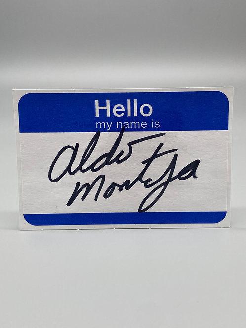 WWF Superstar Aldo Montoya Hand Signed Name Tag (Black) WWE Wrestling