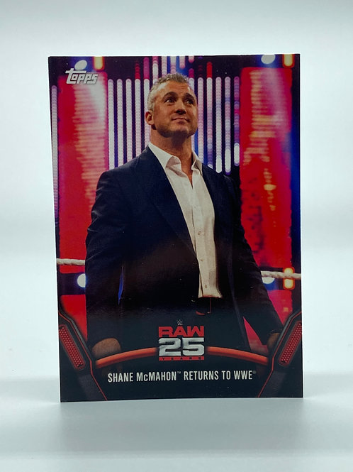WWE Topps 2018 Then Now Forever Shane McMahon #RAW-43