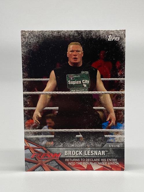 2017 Topps WWE Road to Wrestlemania Brock Lesnar #7