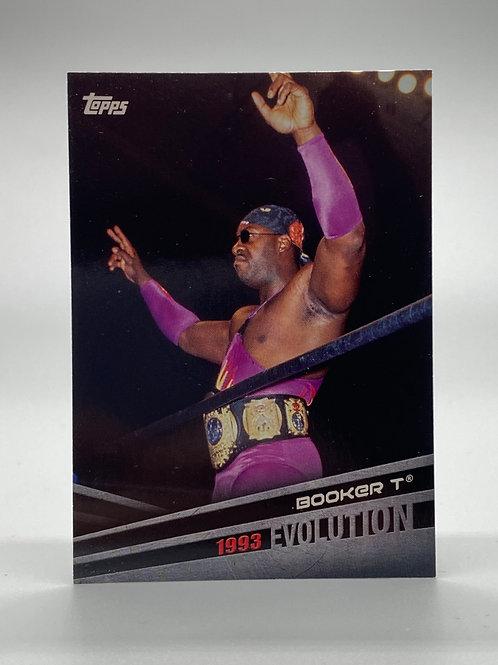 WWE Topps 2018 Evolution Booker T #E-4