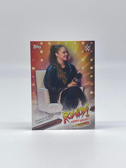 2019 Topps WWE Ronda Rousey Spotlight #35