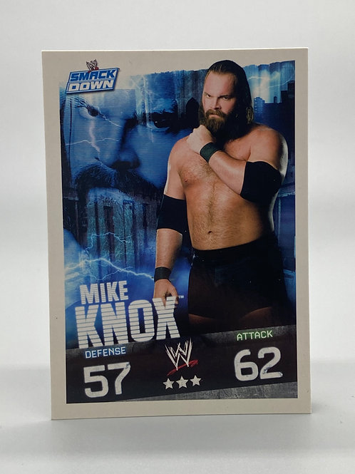 WWE Topps 2009 Slam Attax Evolution Mike Knox NM Wrestling Trading Card