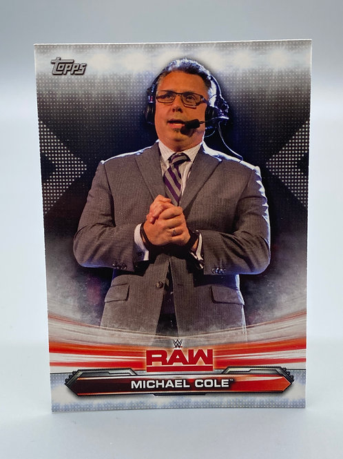 WWE Topps 2019 Raw Michael Cole #48 NM Wrestling Trading Card