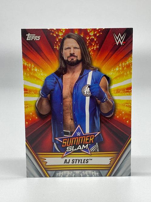 2019 Topps WWE Summerslam AJ Styles #29