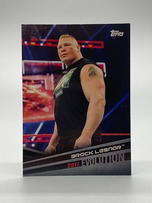 WWE Topps 2018 Evolution Brock Lesnar #E-9