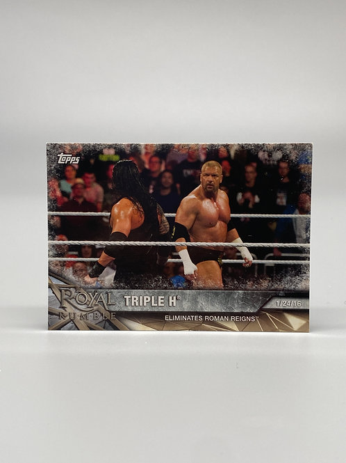 2017 Topps WWE Road to Wrestlemania Triple H #14