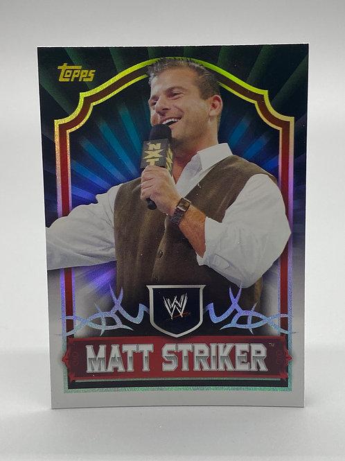 WWE Topps 2011 Classic Matt Striker #45 NM