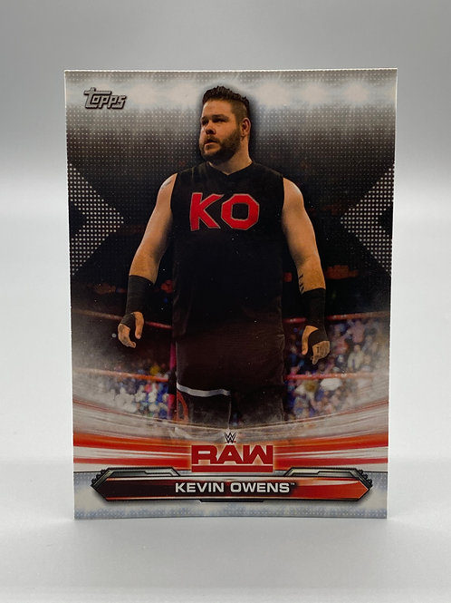 WWE Topps 2019 Raw Kevin Owens #42 NM Wrestling Trading Card