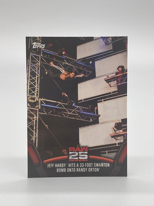 WWE Topps 2018 Then Now Forever Jeff Hardy #RAW-29