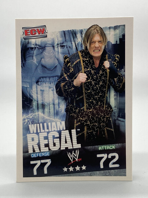 WWE Topps 2009 Slam Attax Evolution William Regal NM Wrestling Trading Card