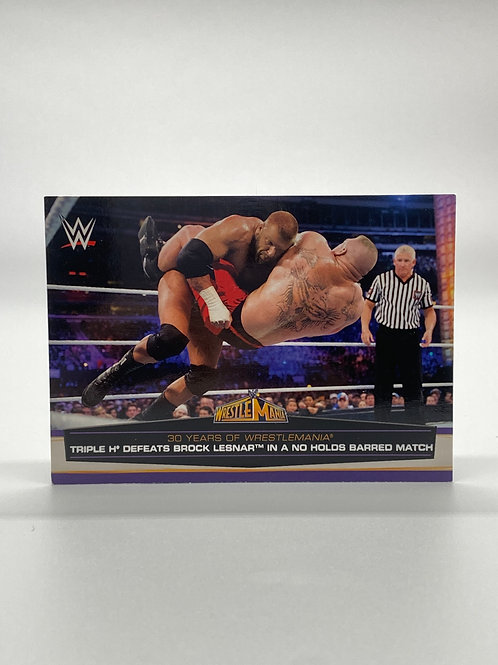WWE Topps 2014 Road to Wrestlemania Triple H #57 of 60