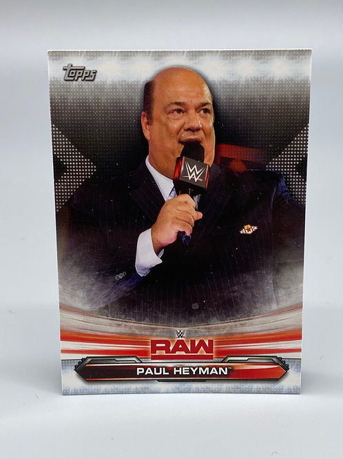 WWE Topps 2019 RAW Paul Heyman #56