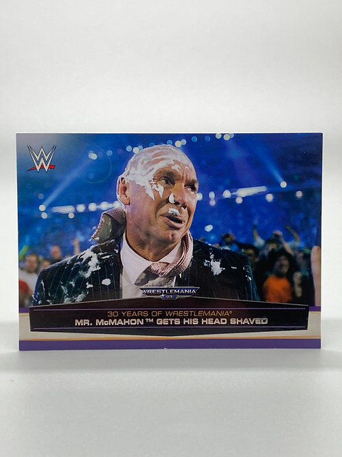 WWE Topps 2014 Vince McMahon Road to Wrestlemania #45 of 60