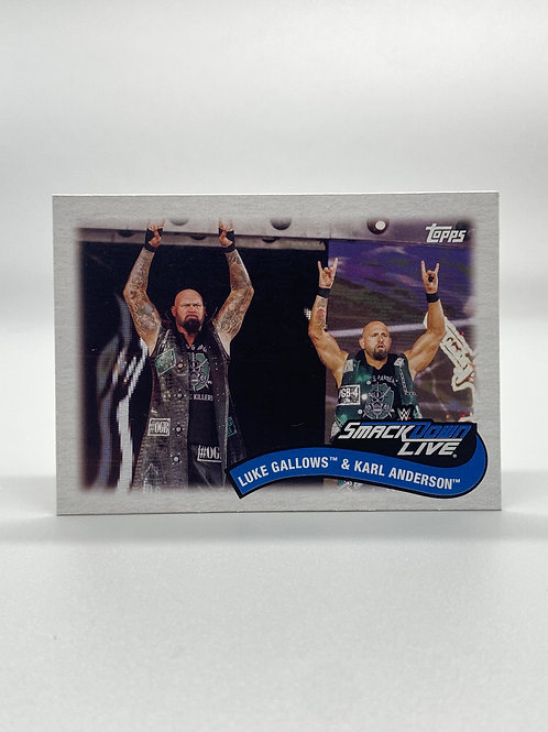 WWE Topps 2018 Tag Team and Stables Luke Gallows & Karl Anderson #TT-5