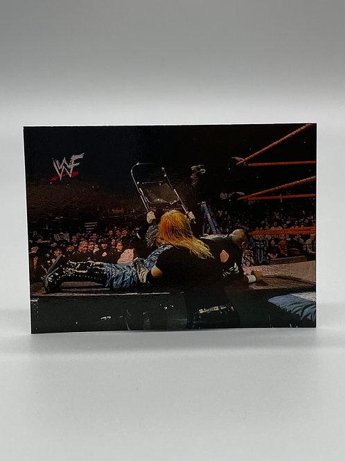 WWF Comic Images 2000 The Hardy Boyz vs The Dudley Boyz #80 NM Wrestling Card