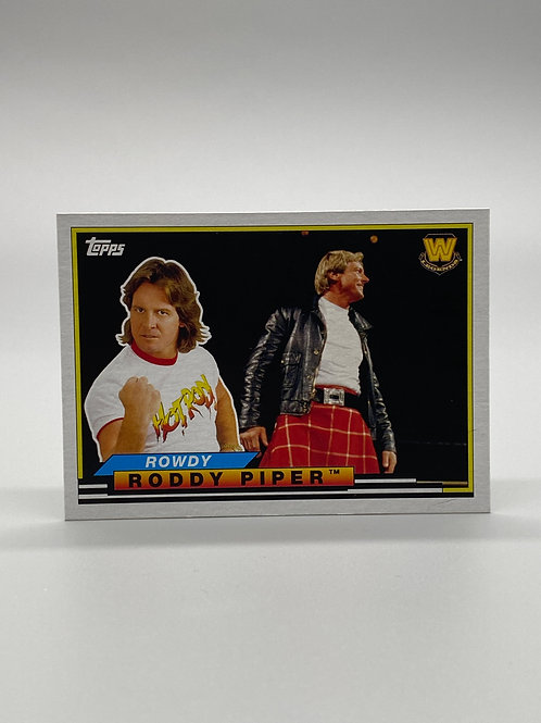 WWE Topps 2018 Heritage Big Legends Rowdy Roddy Piper #BL-43