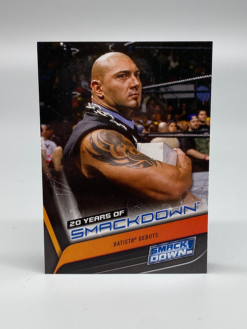WWE Topps 2019 Smackdown 20 Years of Batista #SD-6