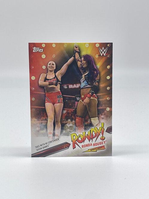 2019 Topps WWE Ronda Rousey Spotlight #36