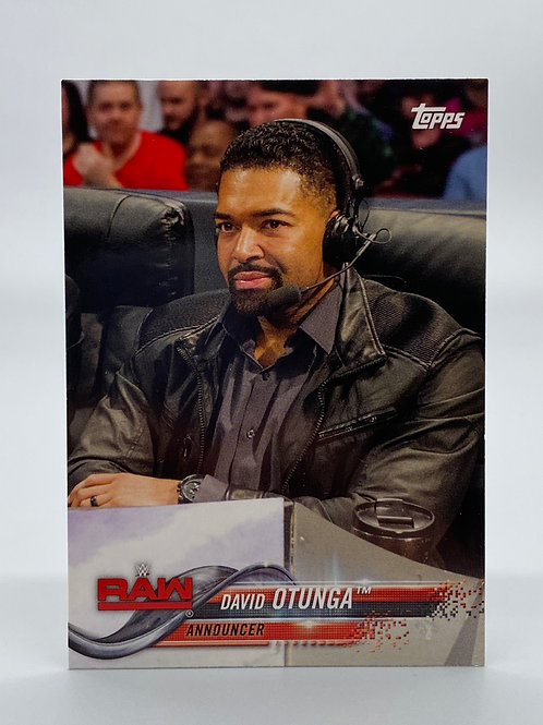 WWE Topps 2018 Then Now Forever David Otunga #121 NM Wrestling Trading Card