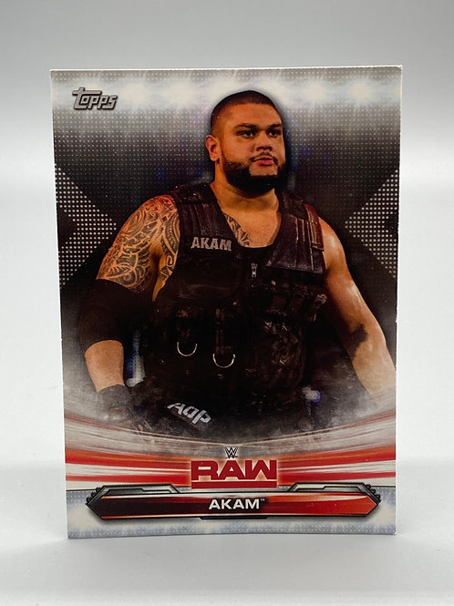 WWE Topps 2019 Raw Akam #1 NM Wrestling Trading Card