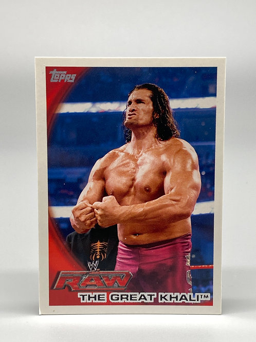 2010 Topps WWE The Great Khali #62