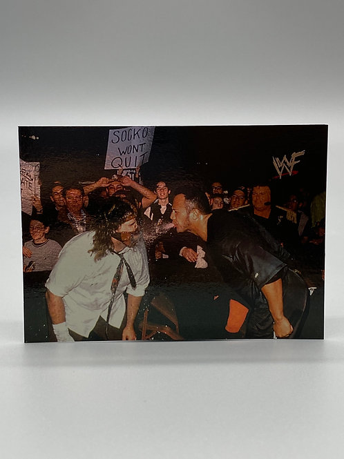 WWF Comic Images 2000 Mankind vs The Rock #49 NM Wrestling Trading Card
