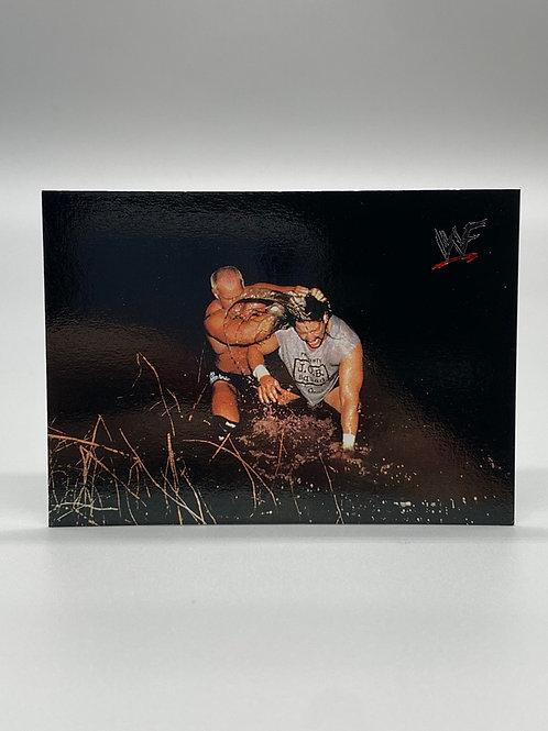 WWF Comic Images 2000 Al Snow vs Hardcore Holly #68 NM Wrestling Trading Card