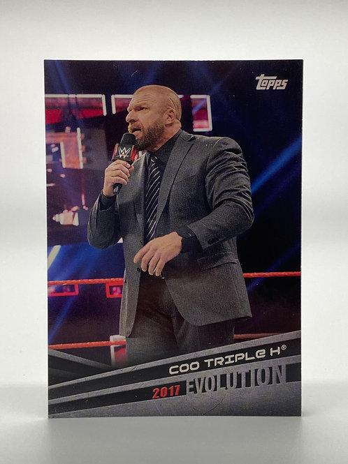 WWE Topps 2018 Evolution COO Triple H #E-44