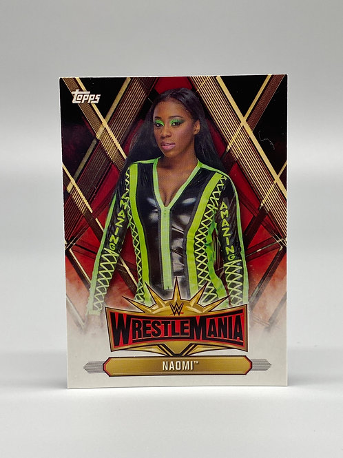 2019 Topps WWE Road to Wrestlemania Naomi #WM-41