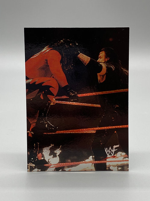 WWF Comic Images 2000 Undertaker vs Kane #57 NM Wrestling Trading Card