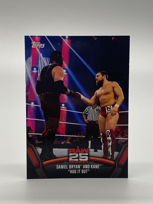 WWE Topps 2018 Then Now Forever Daniel Bryan and Kane #RAW-37