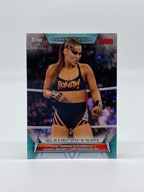 2019 Topps WWE Raw Women Division Ronda Rousey Hell In The Cell #84
