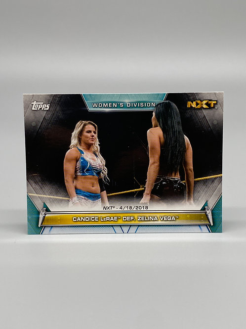 2019 Topps WWE Women's Division Candice Lerae Def. Zelina Vega #70