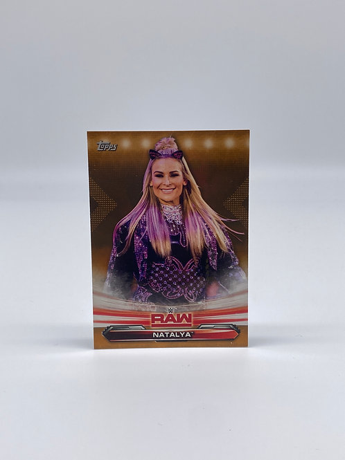 2019 Topps WWE Raw Gold Natalya #52