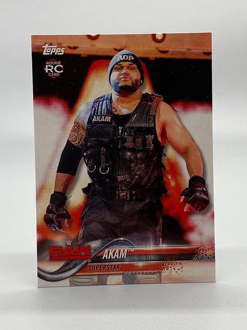 WWE Topps 2018 Then Now Forever Akam #103 NM Wrestling Trading Card