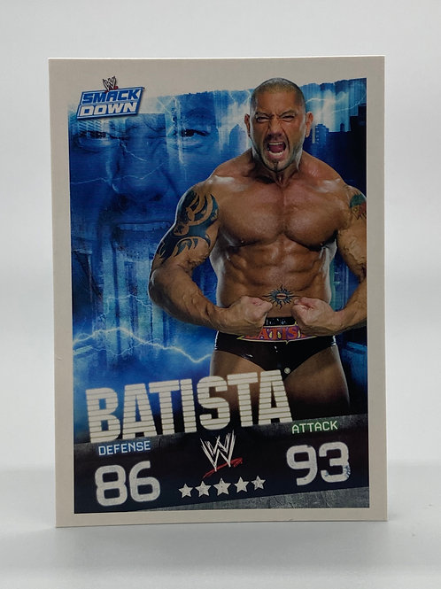 WWE Topps 2009 Slam Attax Evolution Batista NM Wrestling Trading Card