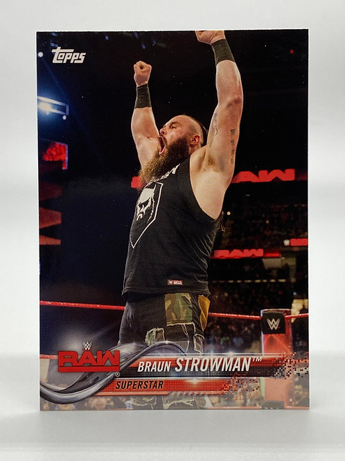 WWE Topps 2018 Then Now Forever Braun Strowman #113 NM Wrestling Trading Card