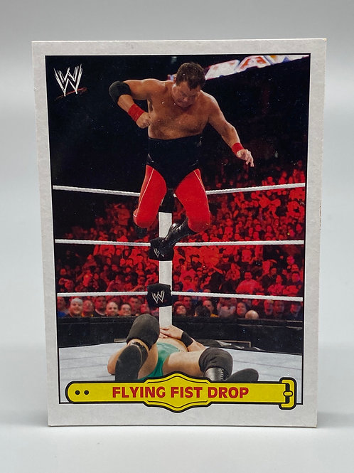 WWE Topps 2012 Heritage Ringside Action Jerry Lawler Flying Fist Drop #7