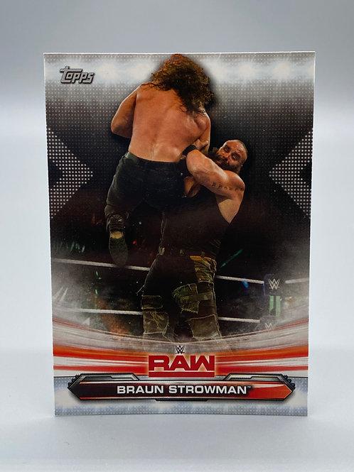 WWE Topps 2019 Raw Braun Strowman #12 NM Wrestling Trading Card