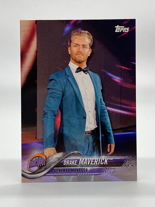 WWE Topps 2018 Then Now Forever Drake Maverick #124 NM Wrestling Trading Card