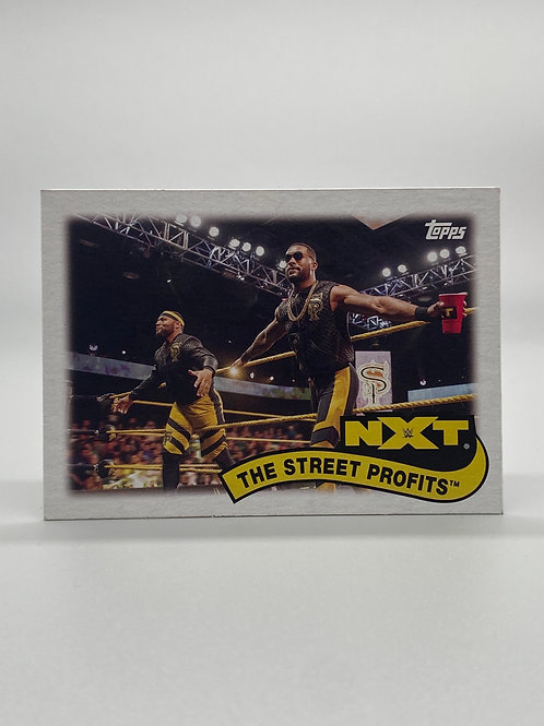 WWE Topps 2018 Tag Teams and Stables The Street Profits #TT-19 NM