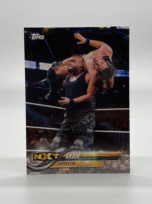 WWE Topps 2018 NXT Akam #3