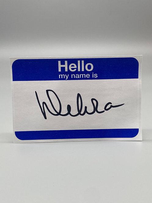 WWF Women's Champion Debra McMichael Hand Signed Name Tag (Black) WWE Wrestling