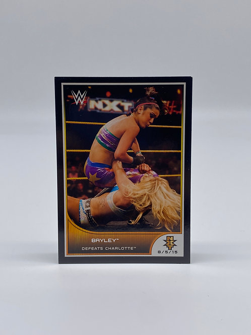 2016 Topps WWE Road to Wrestlemania Bayley Defeats Charlotte #104