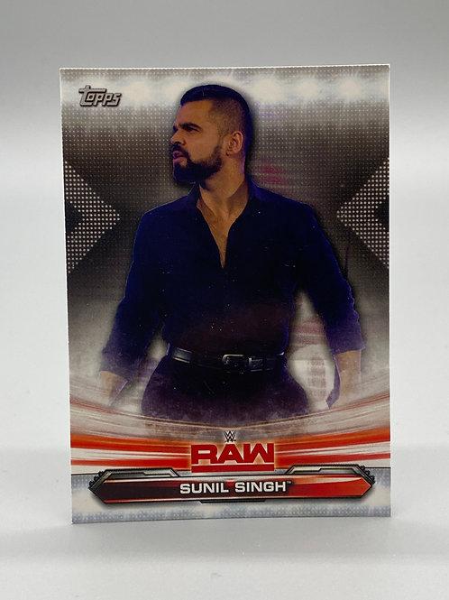 WWE Topps 2019 Raw Sunil Singh #70 NM Wrestling Trading Card