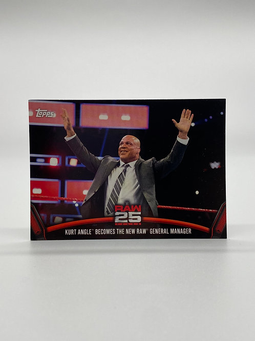 WWE Topps 2018 Then Now Forever Kurt Angle #RAW-46